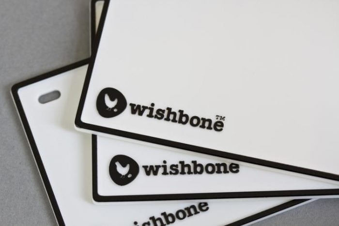Wishbone Nameplate 100% Recycled Plastic