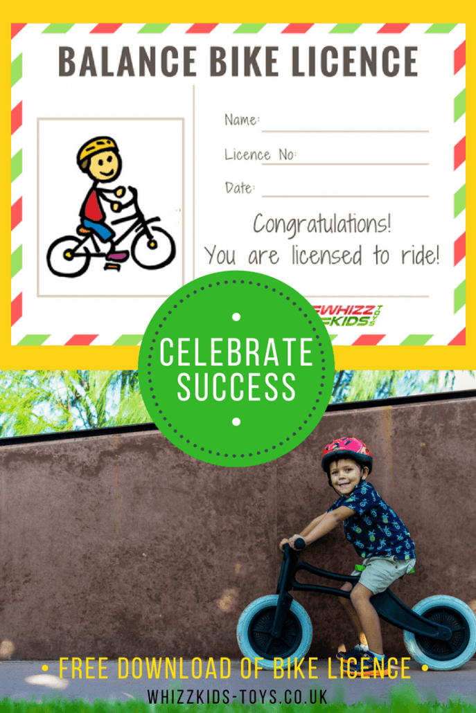 Downloadable Balance Bike Licence