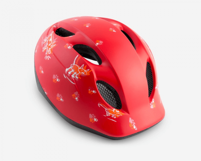 MET Buddy Helmet Red Animals