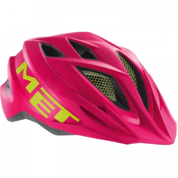 MET Crackerjack Kids Helmet Pink Texture/Green