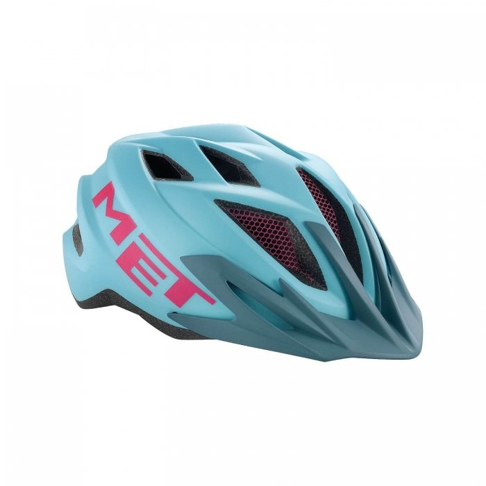 MET Crackerjack Kids Helmet Light Blue/Magenta