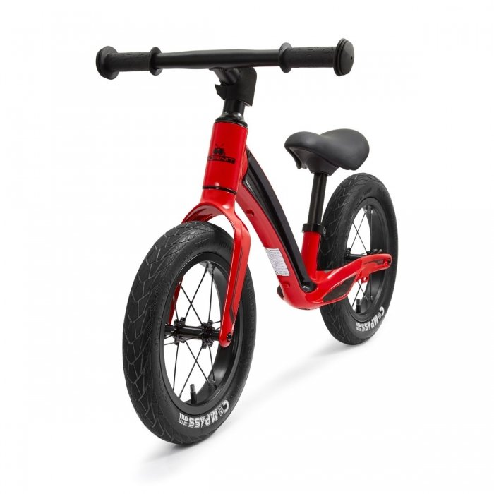"""Hornit Airo 12"""" Balance Bike Red Front Angle"""