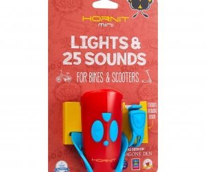 Hornit Mini Light & Horn Accessory Blue Red Packaging