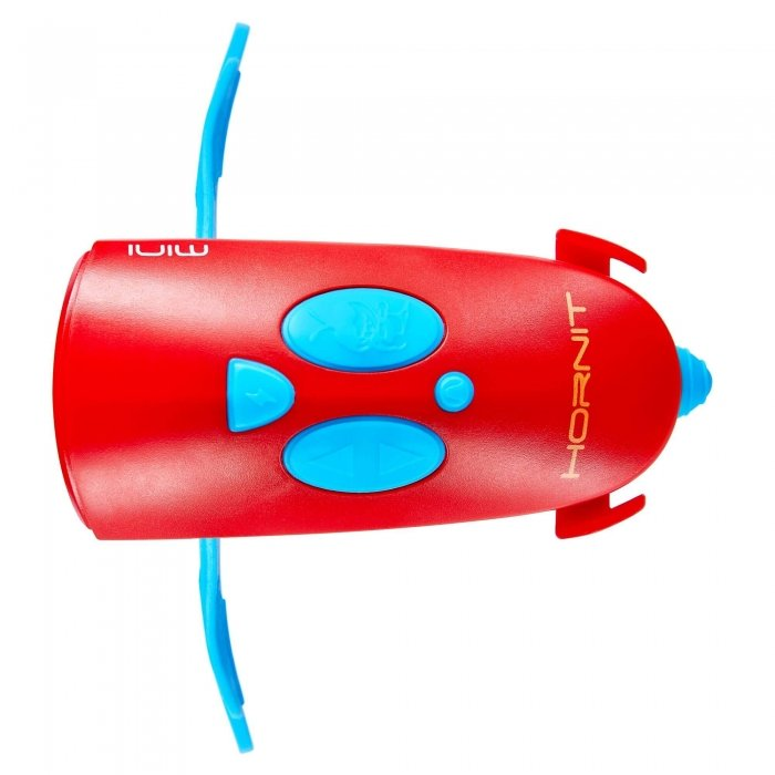 Hornit Mini Light & Horn Accessory Blue Red Top